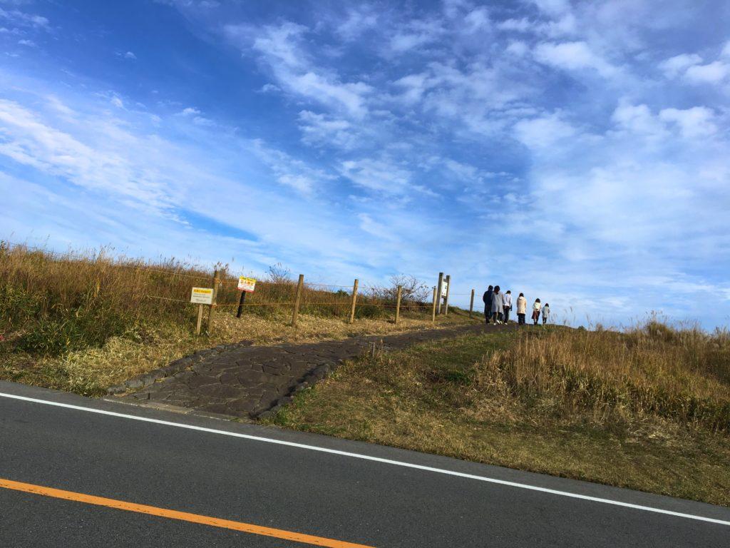 かぶと岩展望所への道