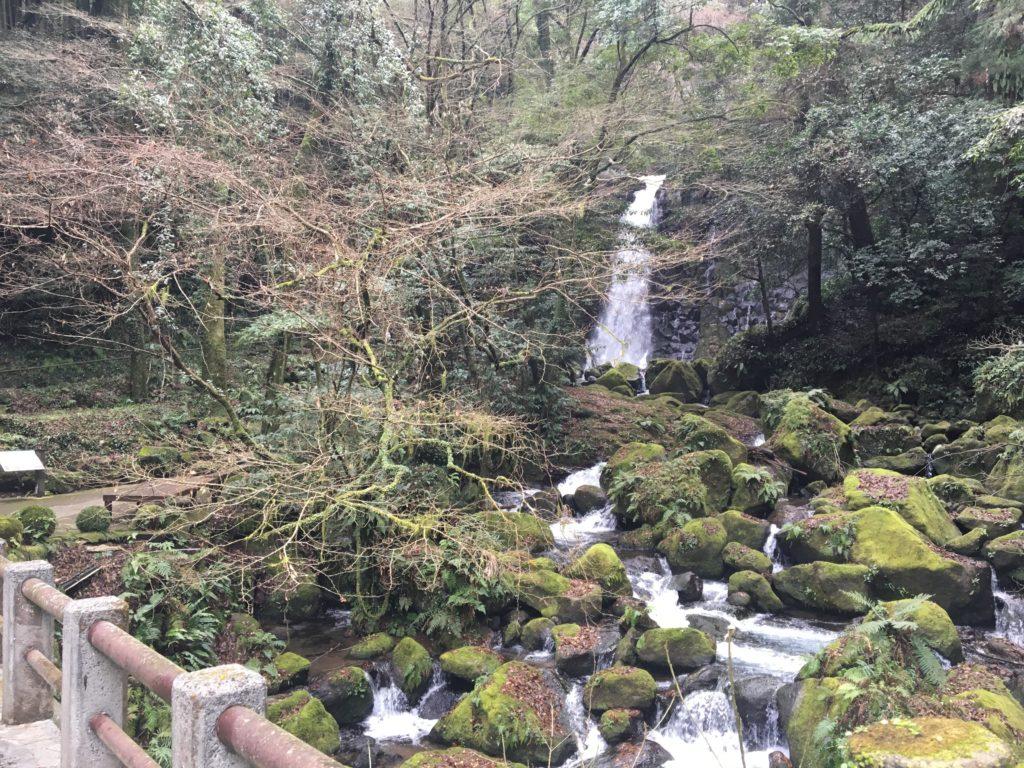 橋の上からの滝