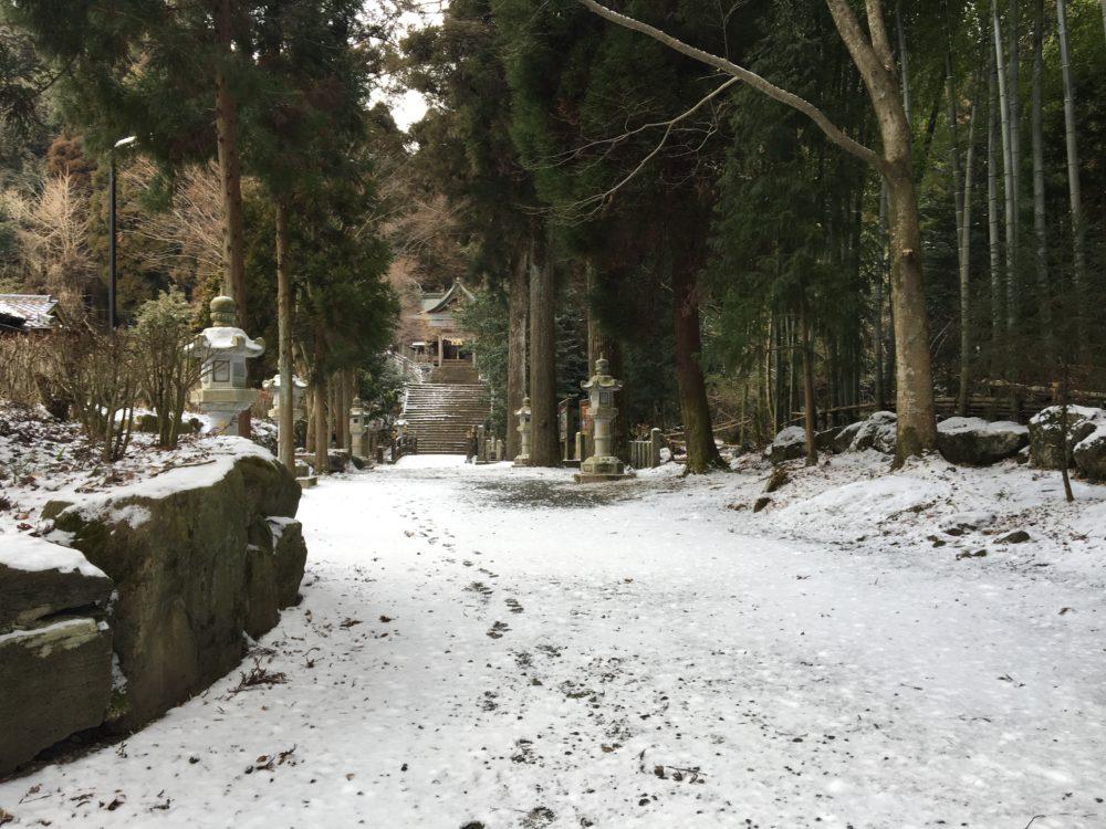 国造神社の道