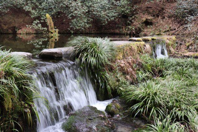 流れ出る池山水源の水